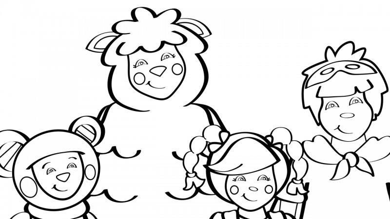 Image For Mother Goose Club Theme Song Coloring Page